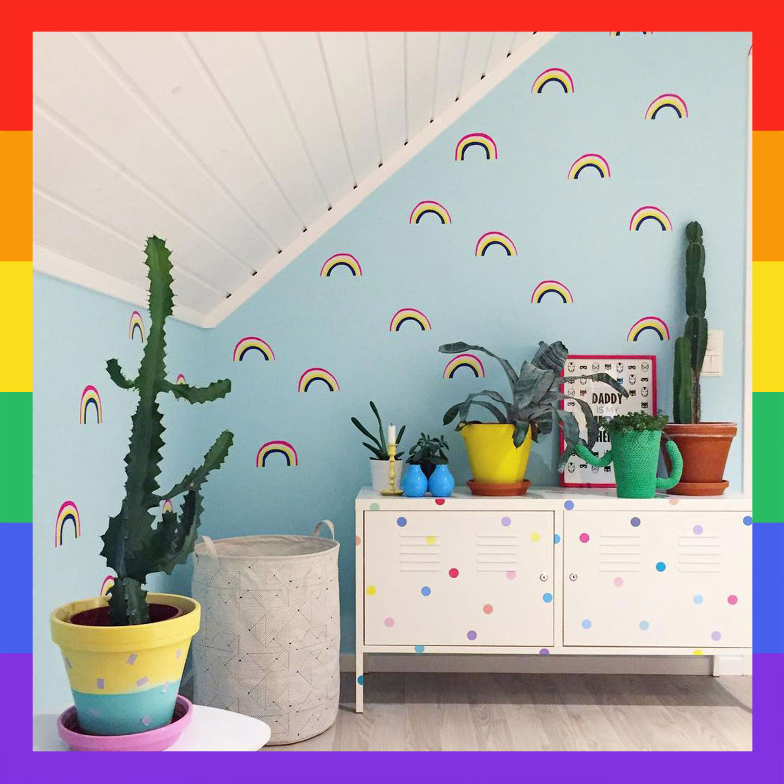 Pride Colorful Rainbow Wall Decals