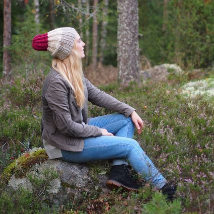 In the Woods - Kanerva, naturally dyed beanie