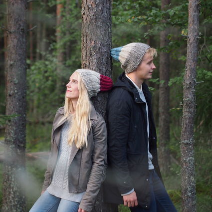 Naturally dyed beanie, In the Woods - Taivas