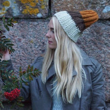 In the Woods -  Pihlaja, naturally dyed beanie for kids