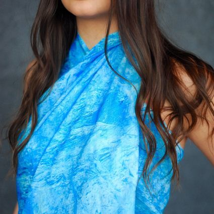 BYLUR SCARF IN BANANA SILK