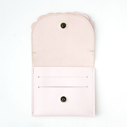 While wallet Pink inside