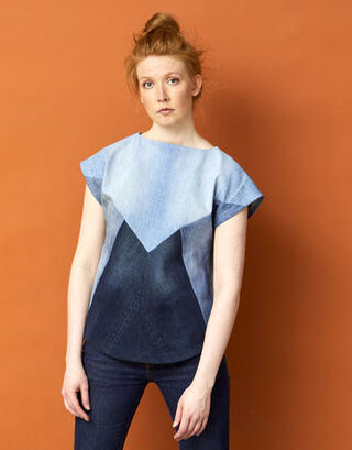 CYCLE² || DENIM toppi triangles etu