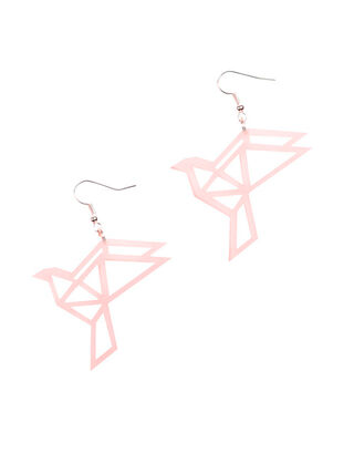 ORIGAMI Dove Earrings, Black Wood