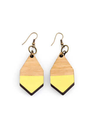 Diamante wooden earrings