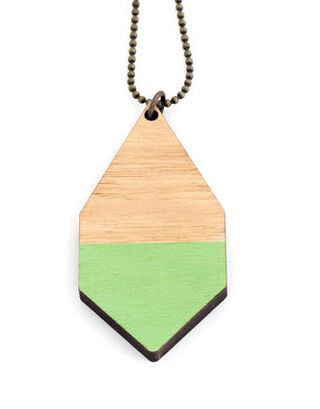 Diamante wooden necklace big