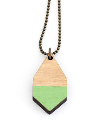 Diamante small wooden necklace