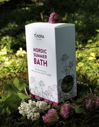Relaxing bath salt with arctic herbs