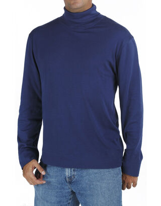 Blue Long Sleeve Turtle Neck T Shirt