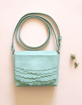 While shoulder bag Aqua