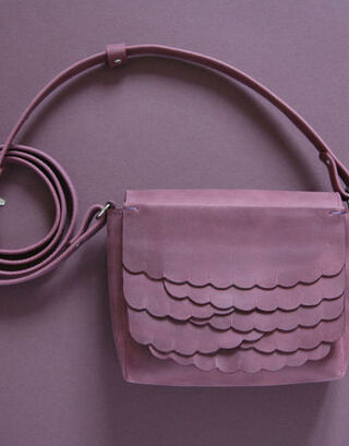 While shoulder bag Plum